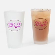26.2 princess marathon logo Drinking Glass