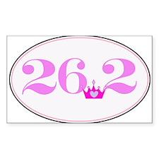 26.2 princess marathon logo Decal