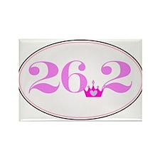 26.2 princess marathon logo Rectangle Magnet