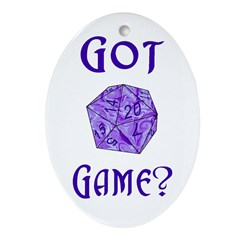 d20 Got Game? Oval Ornament