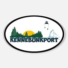 Kennebunkport ME - Beach Design. Decal