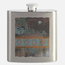 nashville tennessee art illustration Flask