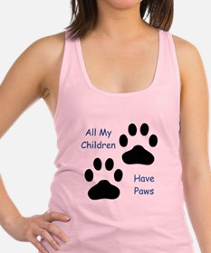 All My Children Have Paws 1 Racerback Tank Top