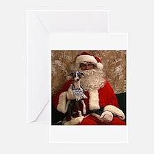 Santa  the rabbi medium2 Greeting Cards