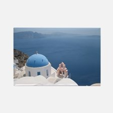 Santorini Rectangle Magnet