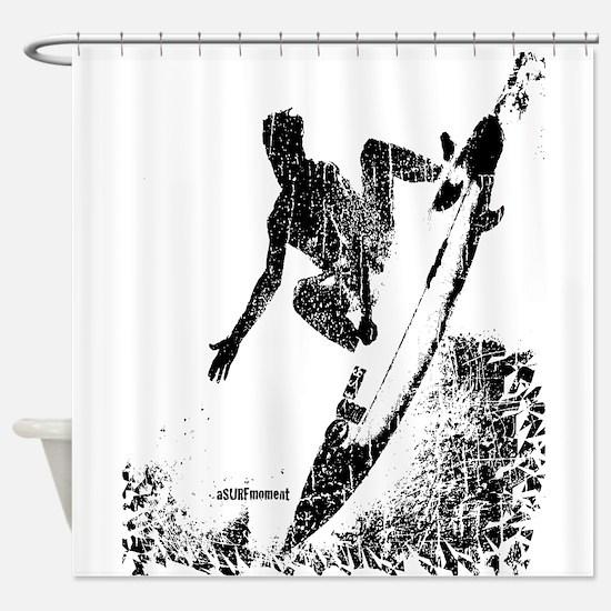 aSURFmoment bw #57.jpg Shower Curtain
