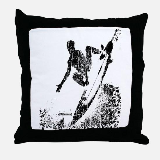 aSURFmoment bw #57.jpg Throw Pillow