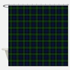 Black Watch Tartan Celtic Shower Curtain