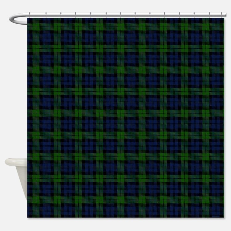 Green Plaid Shower Curtains