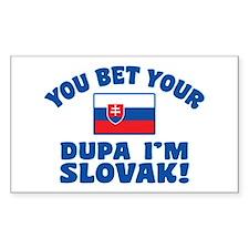 Funny Slovak Dupa Decal