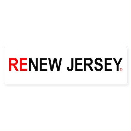ReNew Jersey Bumper Sticker
