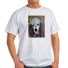 Smiling SIlver Poodle T-Shirt