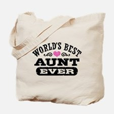 World's Best Aunt Ever Tote Bag