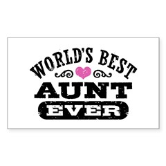 World's Best Aunt Ever Decal