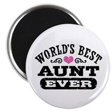 World's Best Aunt Ever Magnet