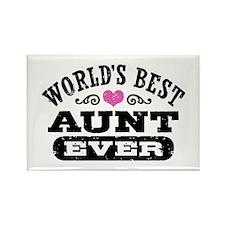 World's Best Aunt Ever Rectangle Magnet