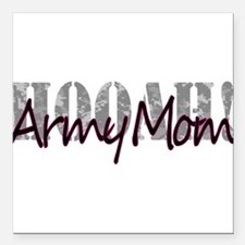 "Army Mom Square Car Magnet 3"" x 3"""