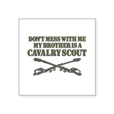 Cavalry Scout 19D Brother support Square Sticker 3