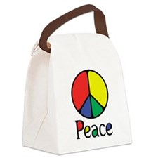 Emphatic Peace Colours Canvas Lunch Bag