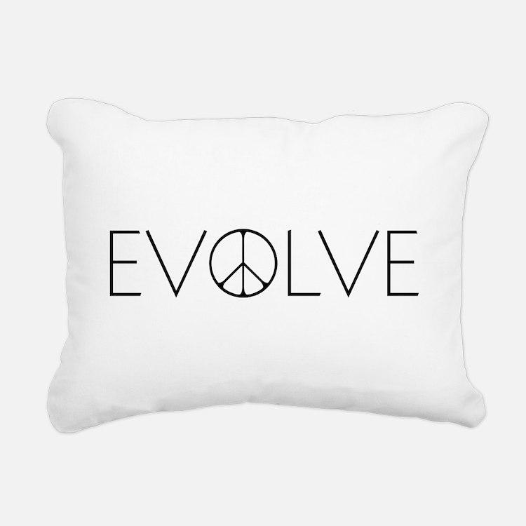 Evolve Peace Narrow Rectangular Canvas Pillow