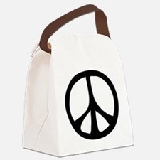 IrregularPeaceSignBW.png Canvas Lunch Bag