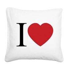 I HEART.png Square Canvas Pillow