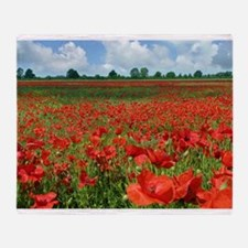 Poppy Fields Throw Blanket
