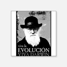 "Viva Old Man Darwin.png Square Sticker 3"" x 3"""