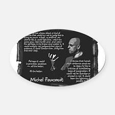Foucault-Criticism-Posters.png Oval Car Magnet