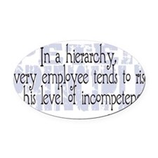 Peter Principle.png Oval Car Magnet