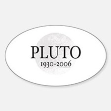 Goodbye Pluto Oval Decal