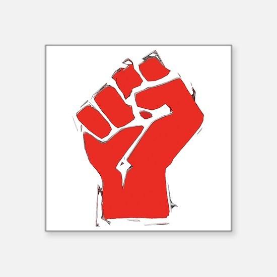"AnarchyFist Cutout.png Square Sticker 3"" x 3"""