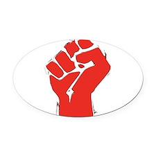 AnarchyFist Cutout.png Oval Car Magnet