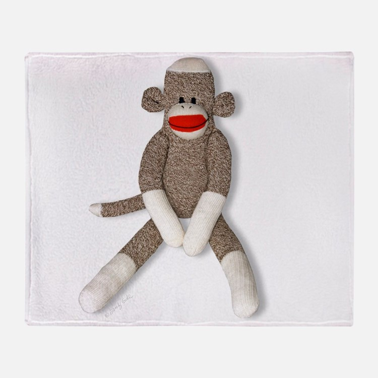 Cute Sock monkey Throw Blanket