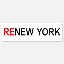 ReNew York Bumper Bumper Bumper Sticker