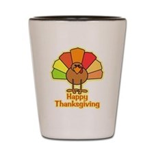 Happy Thanksgiving Turkey Shot Glass