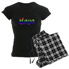 Maya, Rainbow, Pajamas