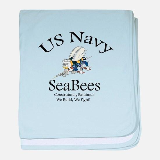 SeaBee Shirt Photo baby blanket