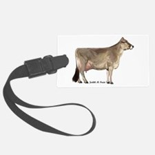 Brown Swiss Cow Luggage Tag