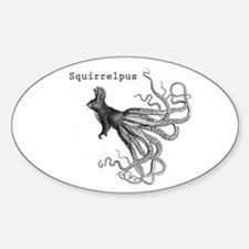 Squirrelpus Sticker (Oval)