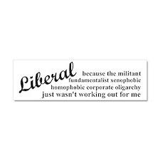 Why I'm Liberal Car Magnet 10 x 3