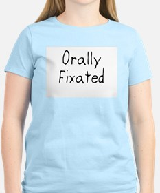 Orally Fixated Women's Pink T-Shirt