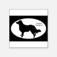 English Shepherd Silhouette Sticker