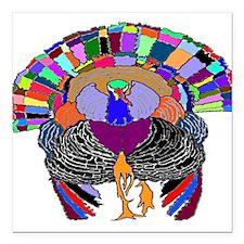 "Turkey With Attitude Square Car Magnet 3"" x 3"""