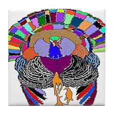 Turkey With Attitude Tile Coaster
