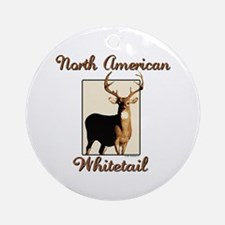 American Whitetail Ornament (Round)