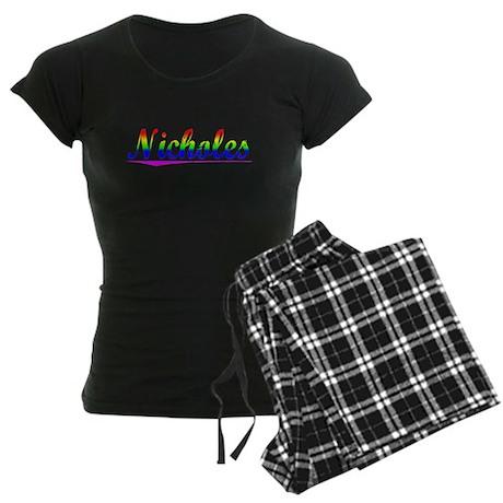 Nicholes, Rainbow, Women's Dark Pajamas