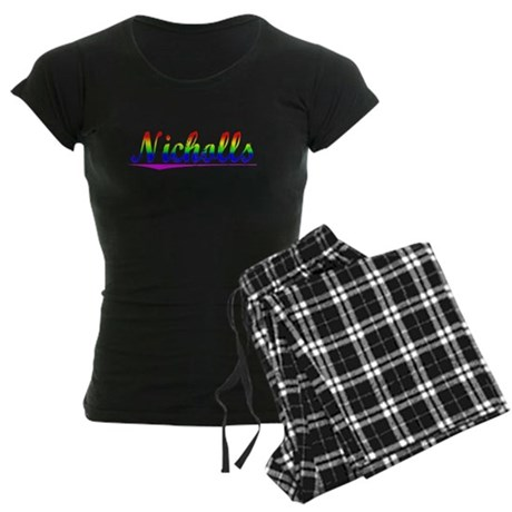 Nicholls, Rainbow, Women's Dark Pajamas
