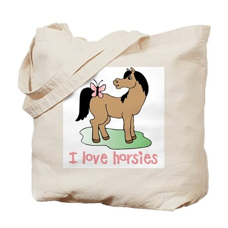 Cute horse lover girls Tote Bag