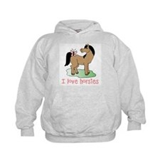 Cute horse lover girls Hoodie